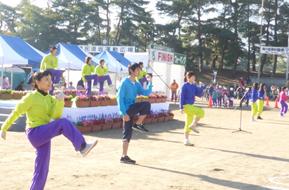 竜の里須坂健康マラソン全国大会の準備体操